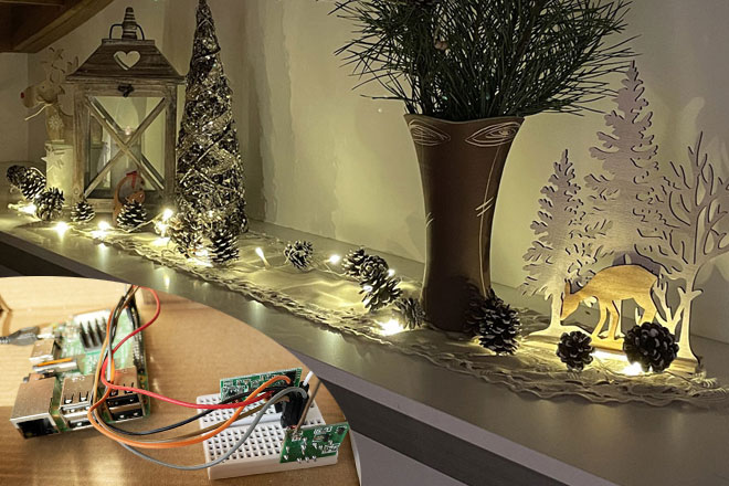 Christmas Lights Automated with FileMaker and Raspberry Pi - Preview Image