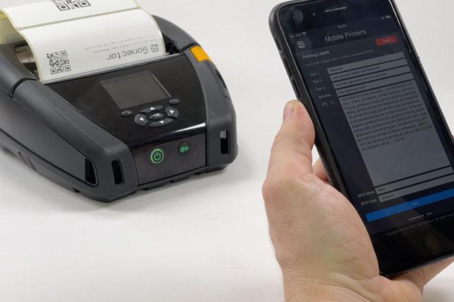 Gonector Prints RFID Labels - Preview Image