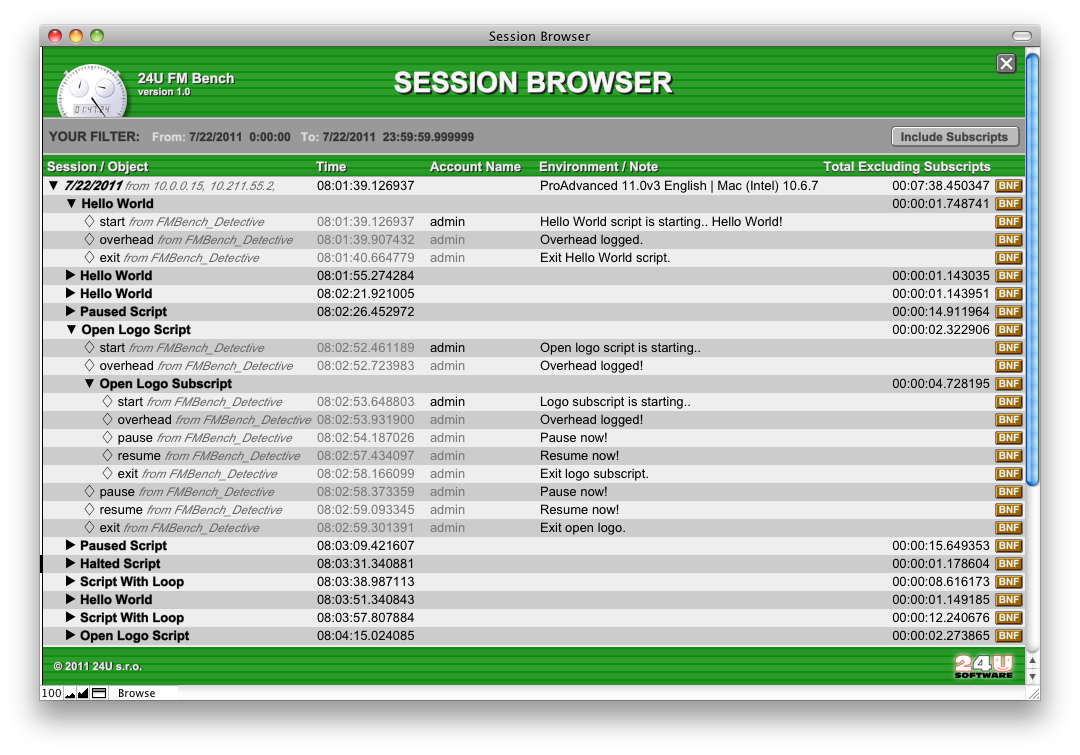 Session Browser lets your examine individual user sessions
