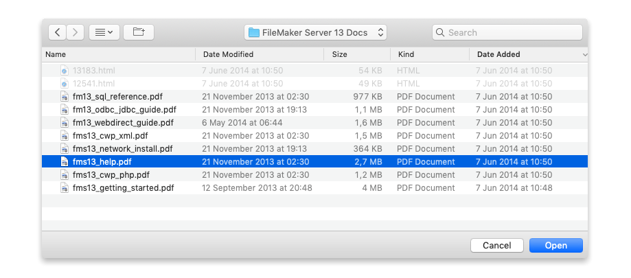 More Guidance in Open File and Save File Dialogs