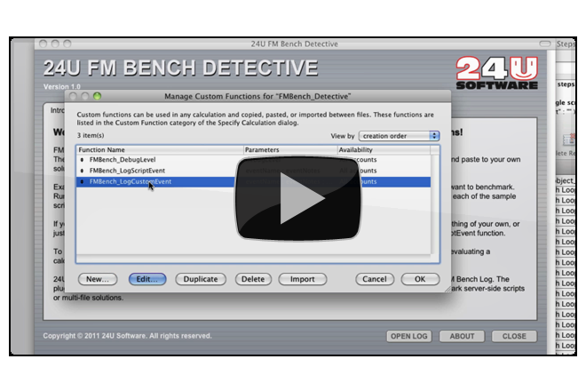 How 24U FM Bench Detective works - Preview Image