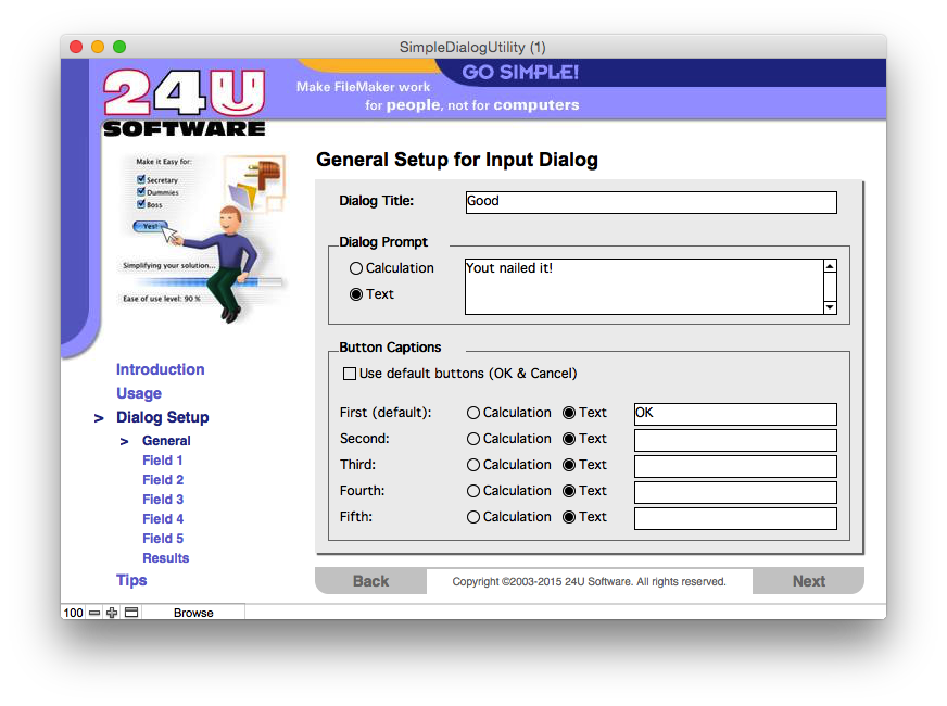 24U releases 24U SimpleDialog Plug-In 6.0 for the FileMaker 17 Platform Image